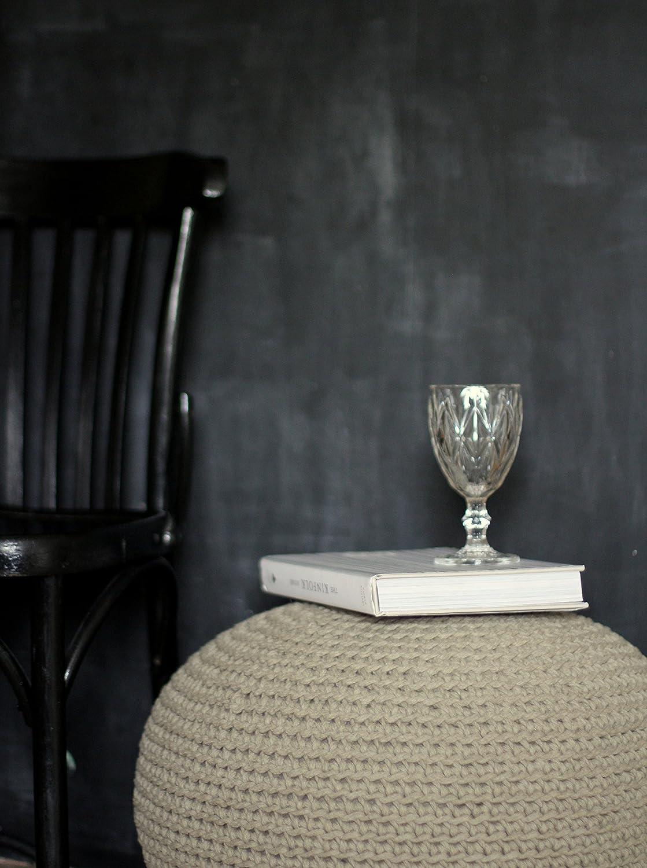 Amazoncom Natura Linen Pouf Ottoman Footstool Pouffe Table 21