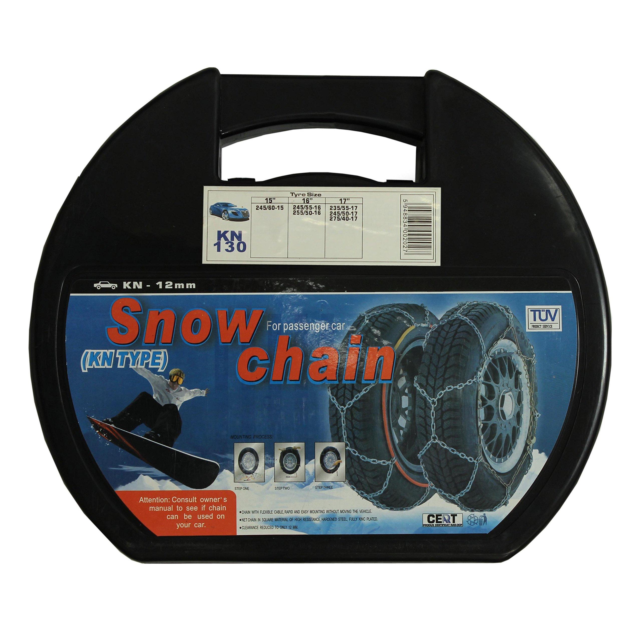 ALEKO 12mm Passenger Car Snow Chain, Pair of Size 130 Chains by ALEKO (Image #3)