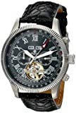 Burgmeister Men's Automatic Watch with Black Dial Analogue Display and Black Leather Bracelet BM330-122