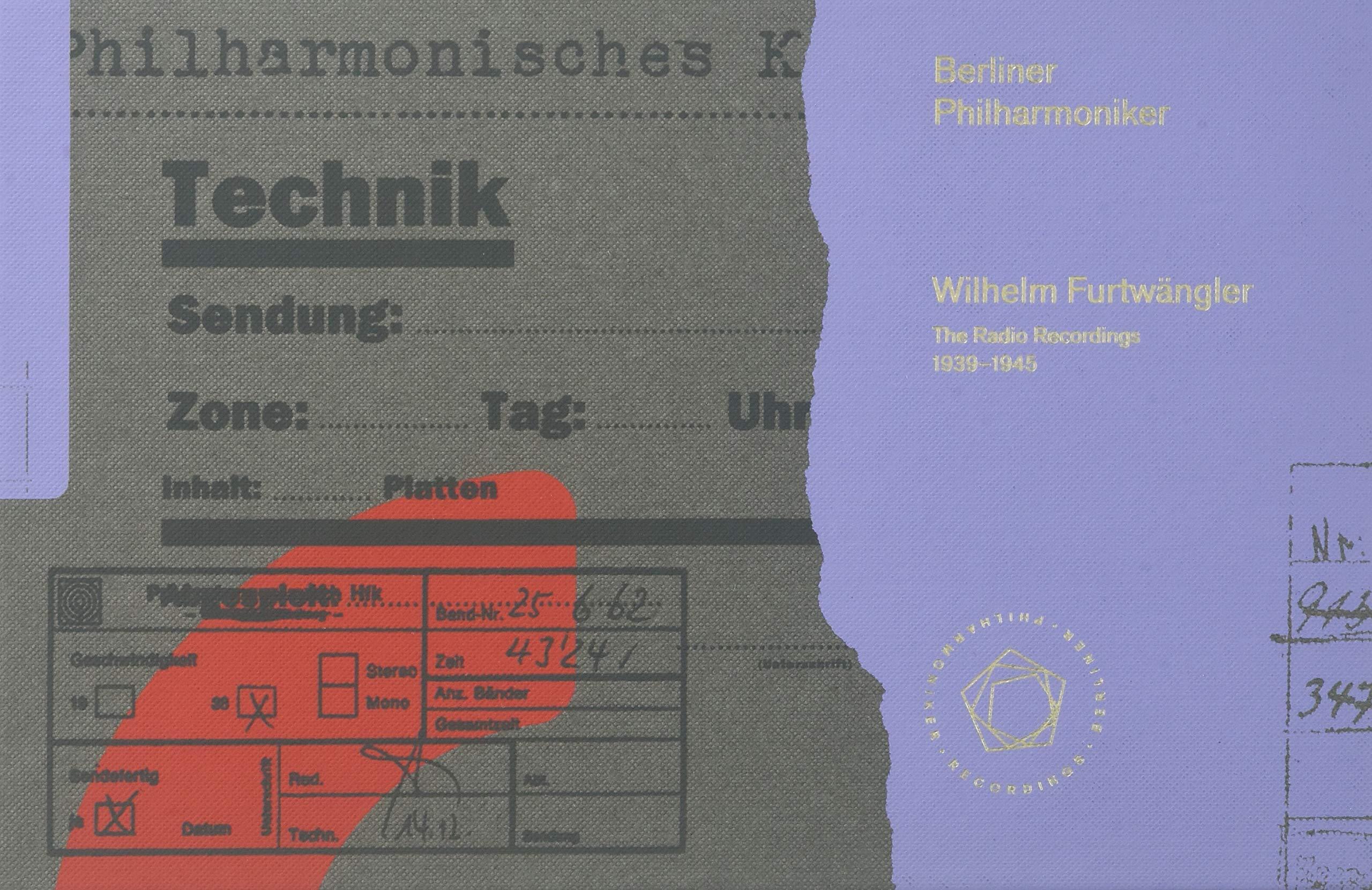Wilhelm Fürtwangler - The Radio Recordings 1939 - 1945. Berliner Philharmoniker. SACD by Berliner Philharmon