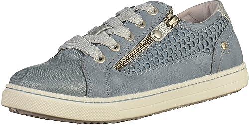 Mustang - Zapatillas deportivas Niñas , azul (lightBleu), 36 EU: Amazon.es: Zapatos y complementos