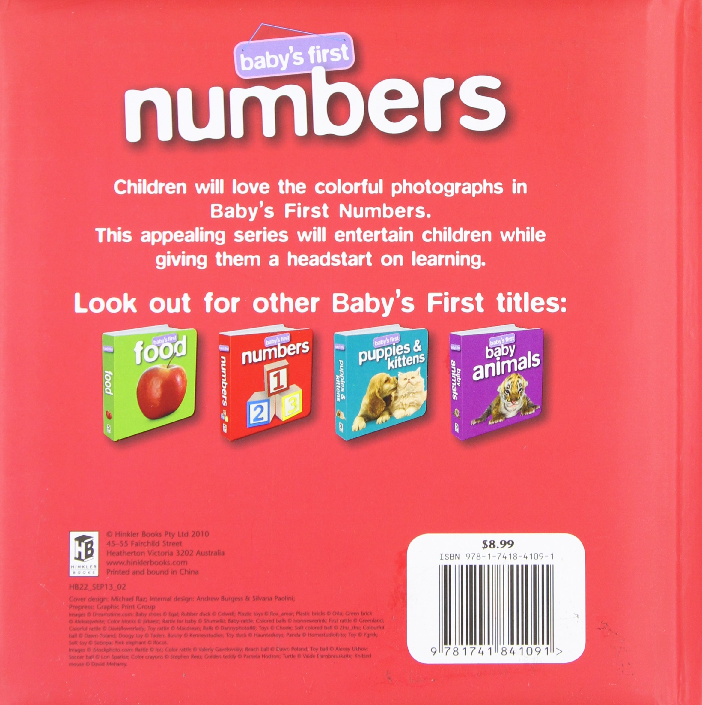 Amazon Baby s First Numbers Hinkler Editors