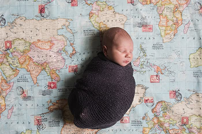 Amazon.com: World Map Baby Blanket   Welcome to the World Little
