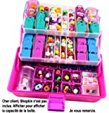 ShopaFun Organiser – Shopkins Compatible Carry Case - Fits 12 Baskets, 62 Bags and 250 Figures over 3 Levels - Great Storage Plus 2 Neoprene Play Mats. Toy and Mini Figure Storage by Felix and Wise