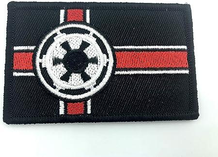 Parche bordado de airsoft de la bandera de la alianza galáctica imperial: Amazon.es: Hogar