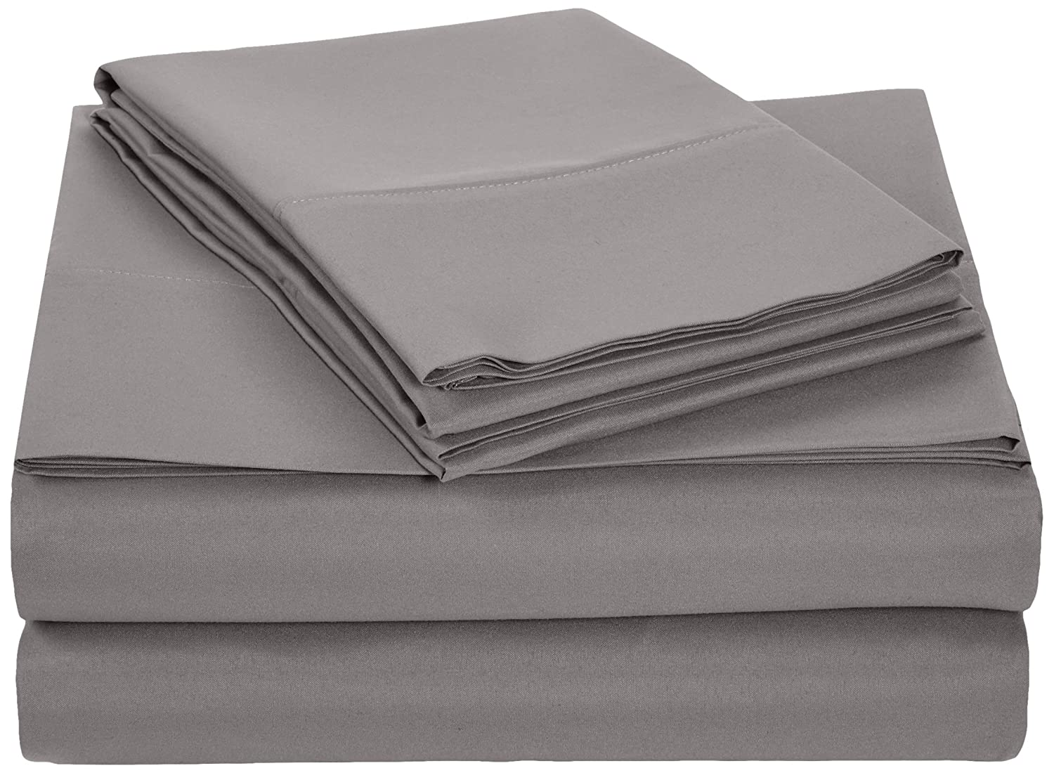 AmazonBasics Microfiber Sheet Set - Full, Dark Grey
