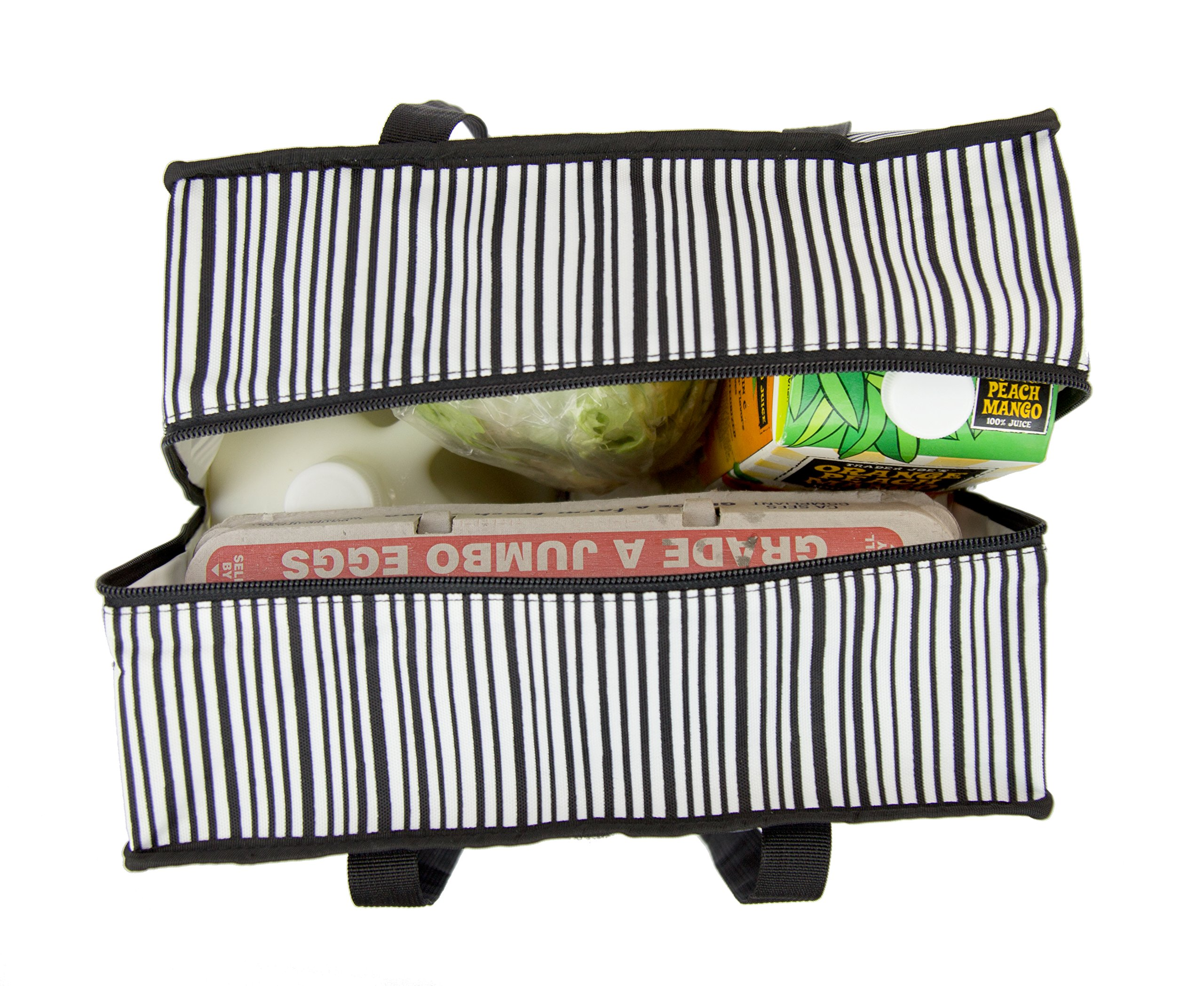 PackIt Freezable Grocery Shopping Bag with Zip Closure, Wobbly Stripes by PackIt (Image #6)