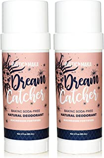 product image for Rustic MAKA Natural Deodorant (Baking Soda Free Deodorant for Women & Men, Magnesium Formula, Aluminum-Free, Paraben-Free, Sulfate-Free, Vegan Certified) - 2 Pack BUNDLE (Dream Catcher)