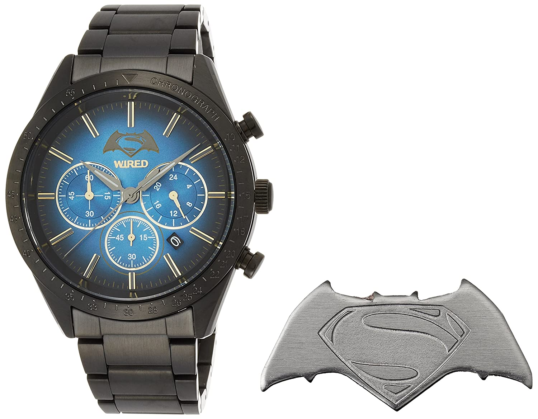 Amazon.com: WIRED Men\'s watch WIRED × BATMAN × SUPERMAN limited ...