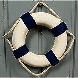 Deko Rettungsring 30cm blau/weiß