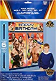 "Amscan Grand Slammin' WWE Birthday Party Scene Setter Wall Decorating Kit (5 Pack), 59"" x 65"", Multicolor"