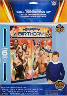 Amazoncom WWE Wrestler Rumblers Wrestling Birthday Cake Topper Set