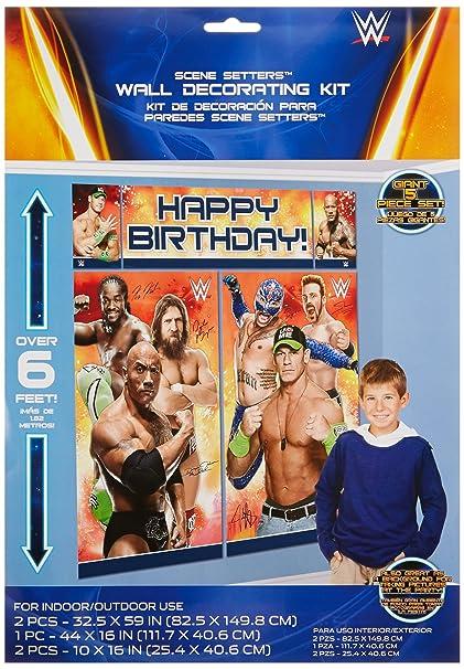 Amazoncom Amscan Grand Slammin WWE Birthday Party Scene Setter