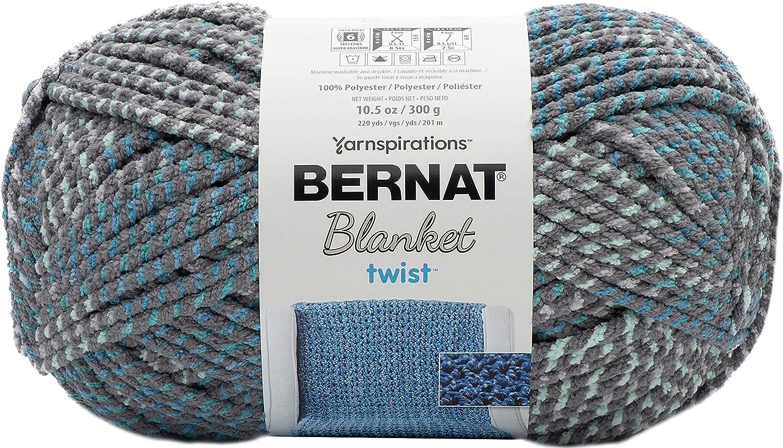 Bernat Blanket Twists Yarn, High Tide, Sea Breeze