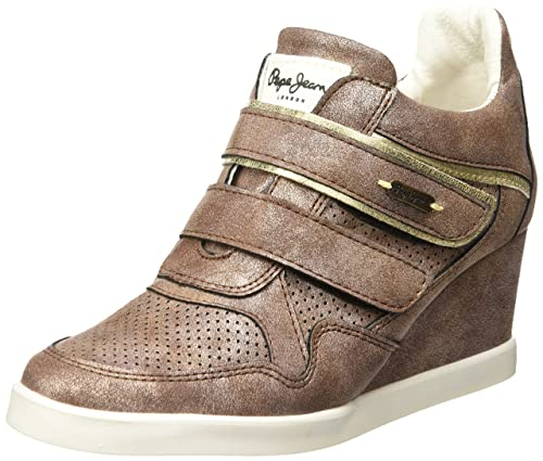 Pepe New 22 Casual Bronce Jeans New Color Mujer para Bacton BACTON Tenis 5r54wqg