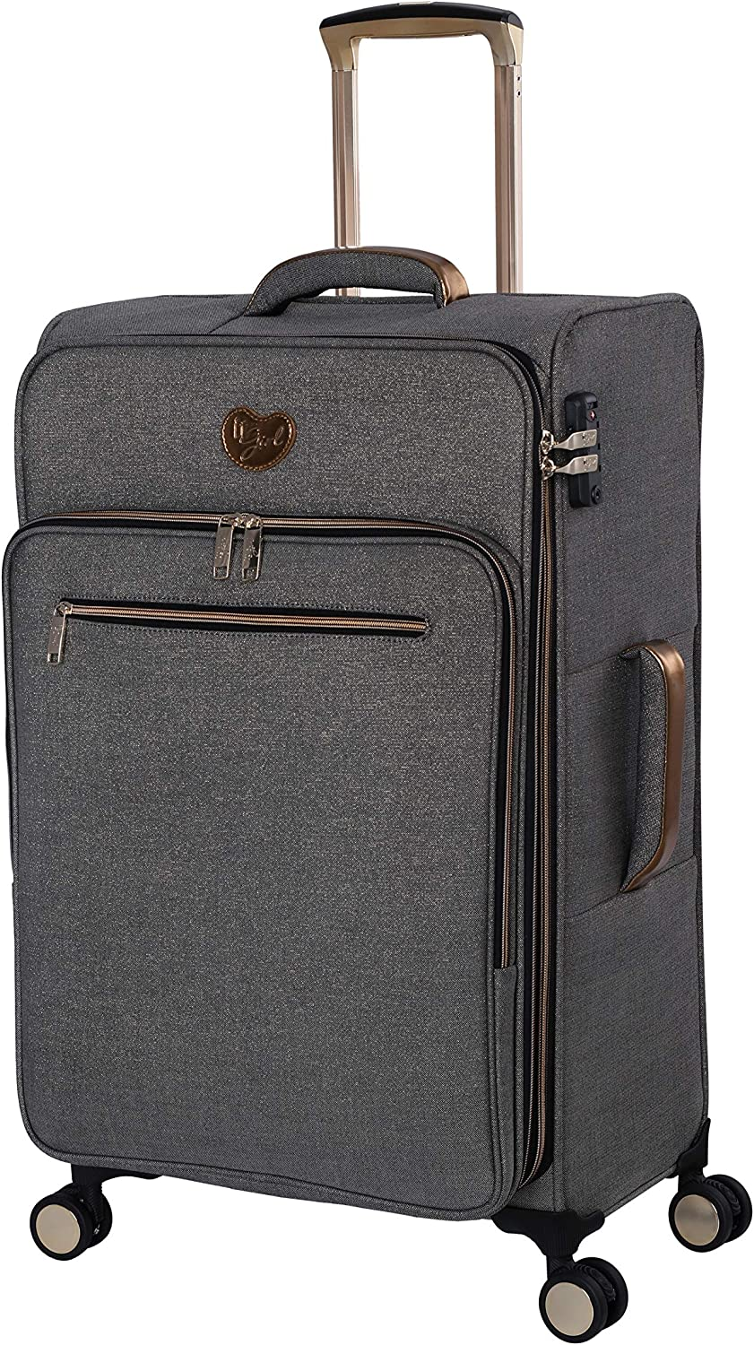 it Girl Womens Glisten Spinner Softside Luggage Collection