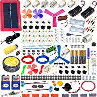 Kit4Curious All in One Diy Kit - Solar, Electronic, Robotics, Electrical, Chemistry, Art, Magnetic, Invention with Booklet