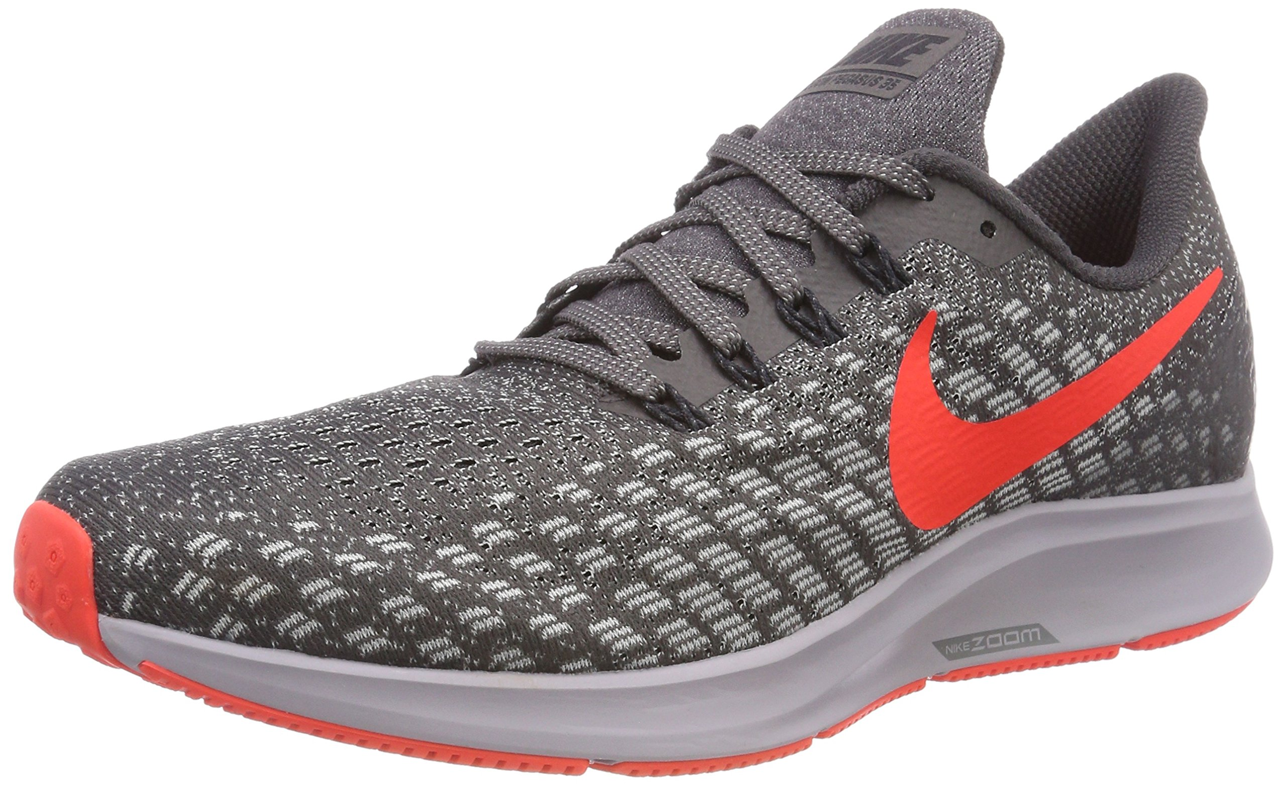 outlet store 5e7bb 198a3 Nike Men's Air Zoom Pegasus 35 Thunder Grey/Bright Crimson Ankle-High Mesh  Running Shoe - 6.5M