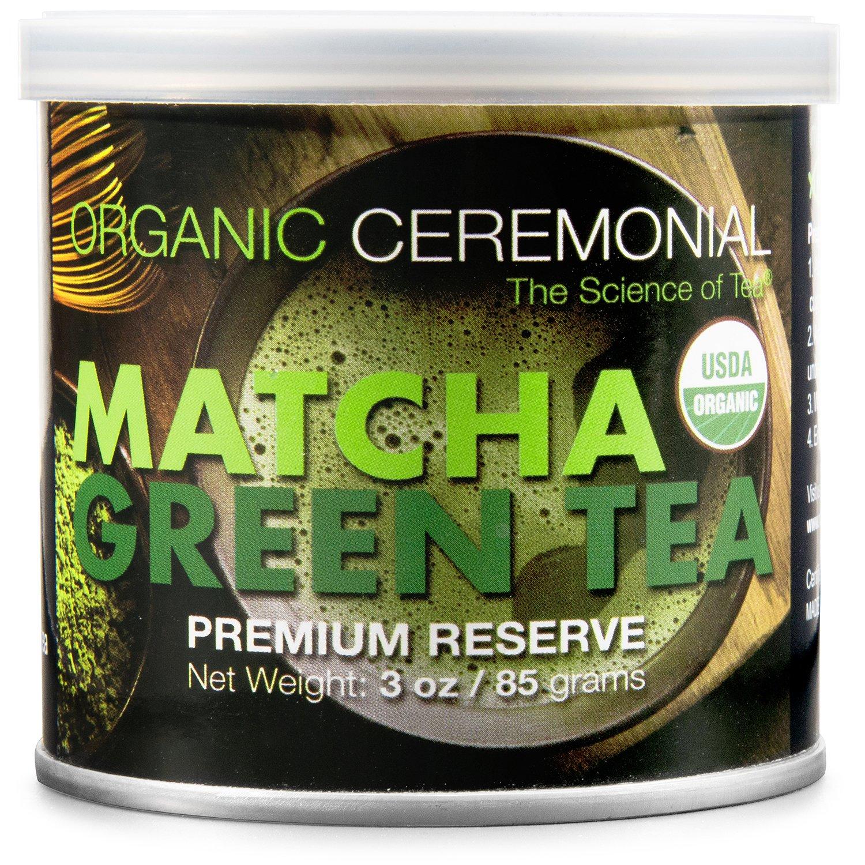 Matcha DNA Certified Organic Ceremonial Grade Matcha Green Tea, TIN CAN (3 Ounce)