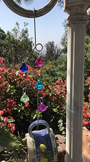 Charmant 16u0026quot; Acrylic Crystal Diamond Plant Hangers Garden Hooks Rust Resistant  For Outdoor Decor, Patio