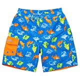 Uv Skinz Boys' 3-piece Swim Set, 5, Orange Happy