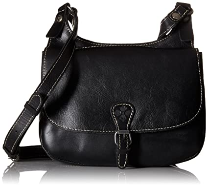 b3558b78aee4 Patricia Nash London Saddle Bag Black  Handbags  Amazon.com