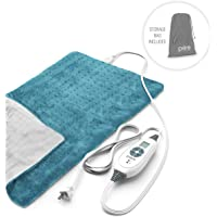 """Pure Enrichment Purerelief XL Heating Pad for Back Pain & Cramps - Fast-Heating, Ultra-Soft Heat Therapy with 6 Temperature Settings & Auto Shut-Off Feature - 12"""" X 24"""" (Turquoise Blue)"""