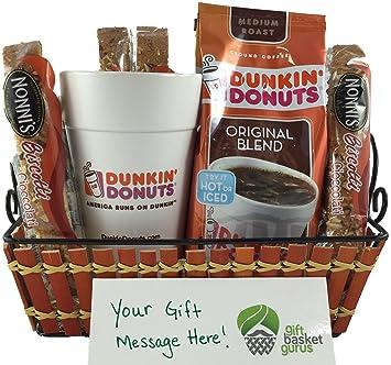 dunkin donuts original coffee gift basket