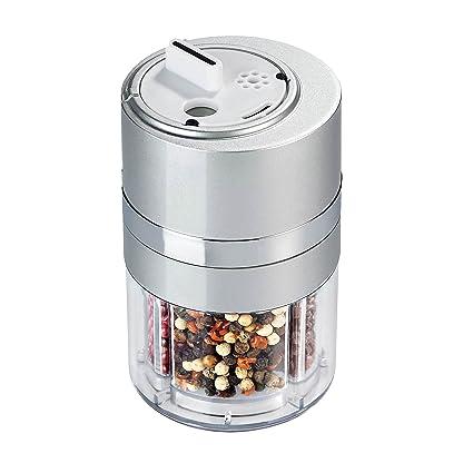 Zevro Dispensador de especias (plástico, tamaño pequeño, con rueda giratoria)