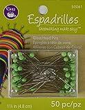 Dritz 50 Count Espadrilles Glass Head Pins