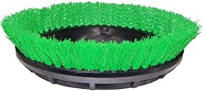 "BISSELL BigGreen Commercial 237.057BG Scrub Brush, 0.015"" Bristle Diameter Crimped Polypropylene for BGEM9000 Easy Motion Floor Machine, 12"", Green"