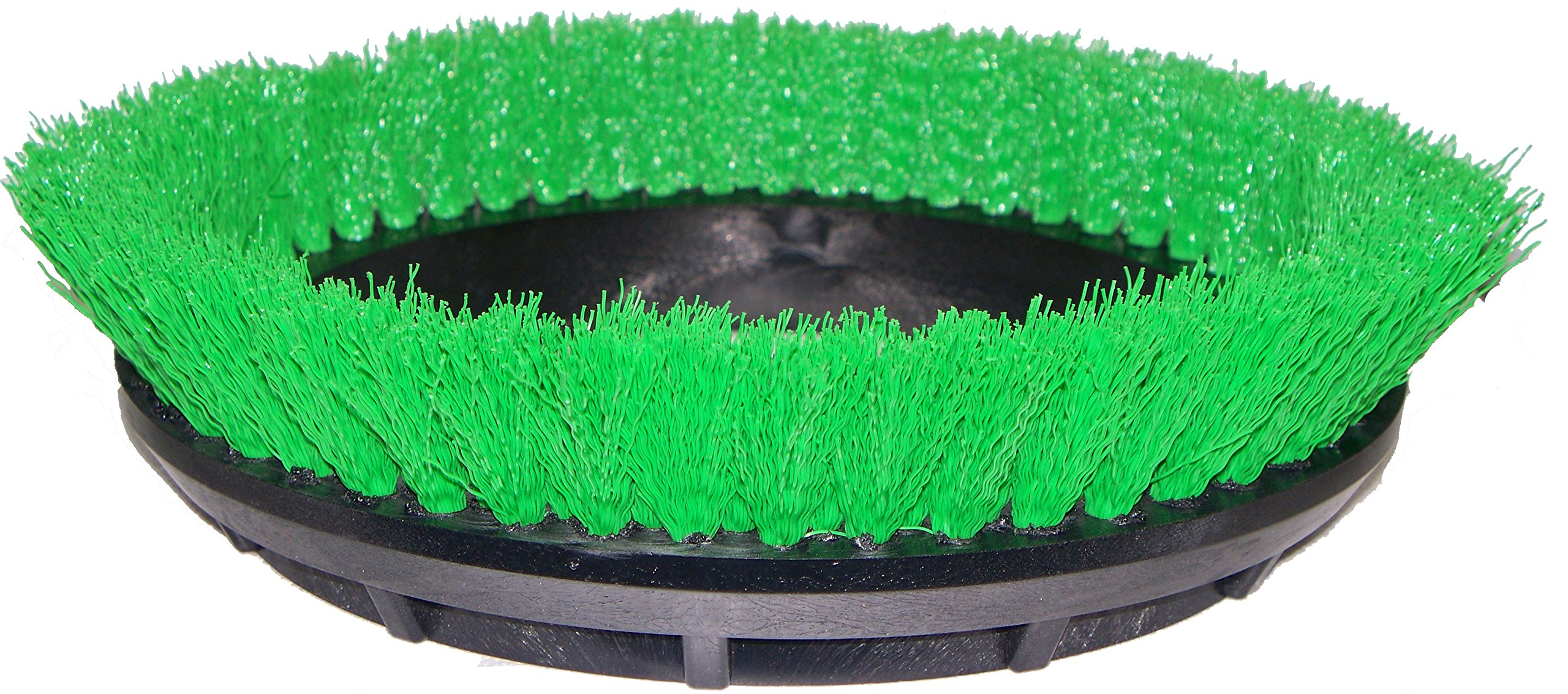 BISSELL BigGreen Commercial 237.057BG Scrub Brush, 0.015'' Bristle Diameter Crimped Polypropylene for BGEM9000 Easy Motion Floor Machine, 12'', Green