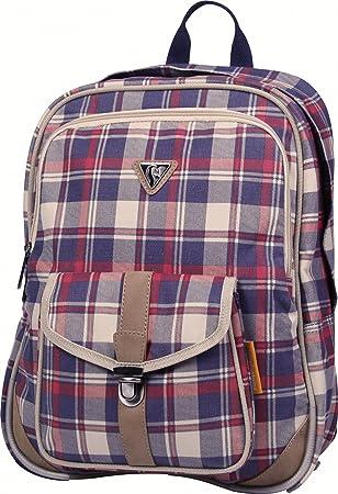 Clairefontaine Classic Bag 8014C Sac à dos 2 compartiments + 1 poche 100% coton/finition simili cuir Bleu YWYAJ