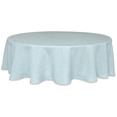 Lenox French Perle Solid 70  Round Tablecloth, Ice Blue
