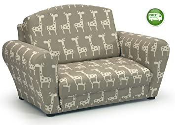 Childrenu0027s Upholstered Sleepover Sofa Chair -Gender Neutral Kids Fold Out Convertible Armchair for Reading  sc 1 st  Amazon.com & Amazon.com: Childrenu0027s Upholstered Sleepover Sofa Chair -Gender ...