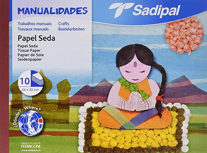 Sadipal 936181 Cuaderno de manualidades con papel charol