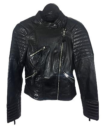 Zara XxlAmazon Mujer Chaqueta esRopa Negro Para Y g6ybf7