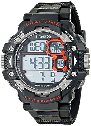 Buy armitron sport mens 408309red grey cased digital chronograph armitron sport mens 408309red grey cased digital chronograph black resin strap watch fandeluxe Gallery