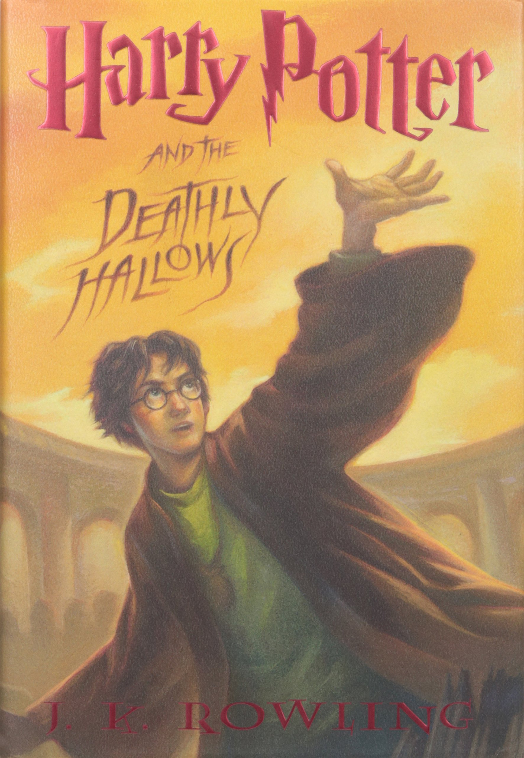 Image result for harry potter deathly hallows book cover