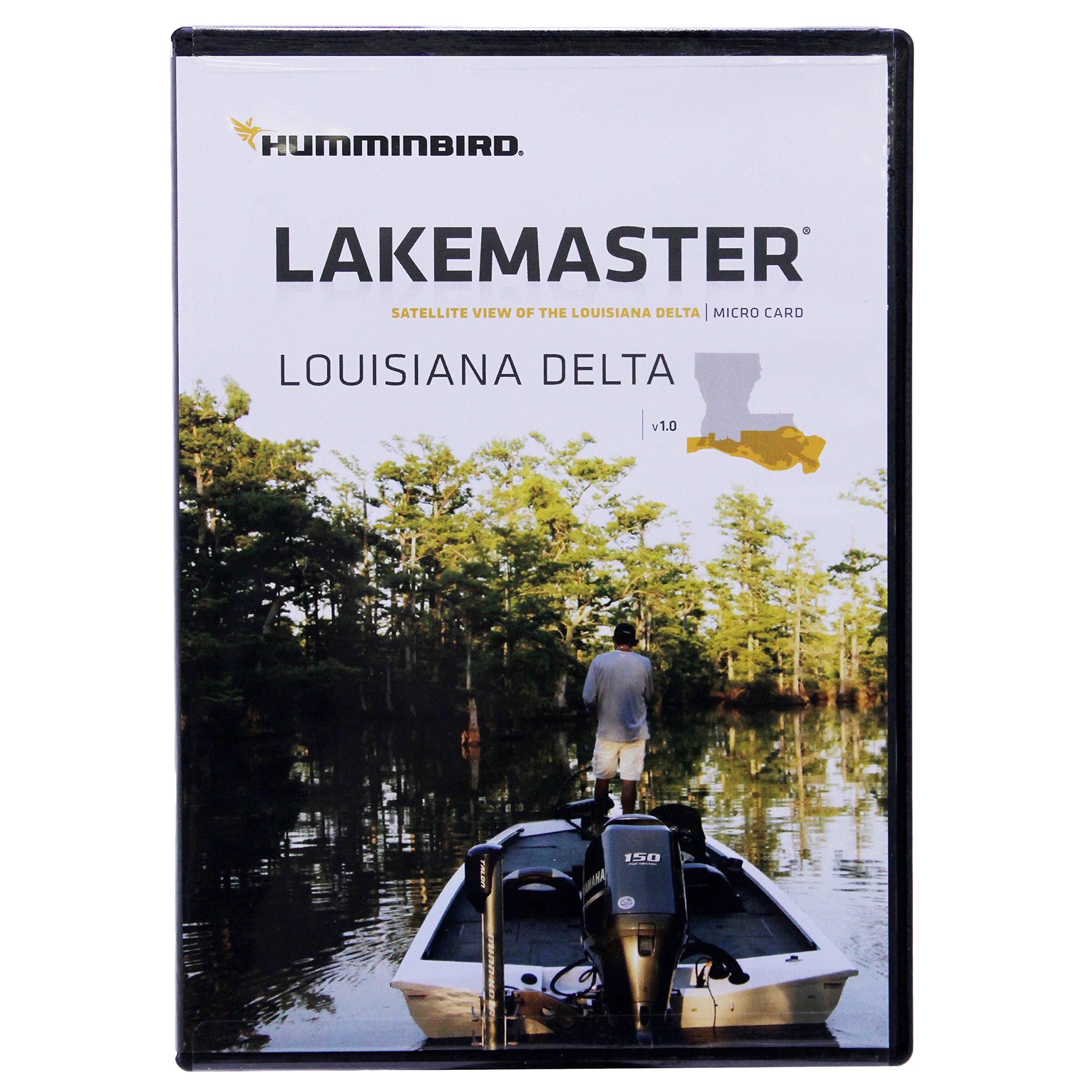 Humminbird LakeMaster Louisiana Delta Aerial View Edition, Micro SD Card, Version 1 by Humminbird