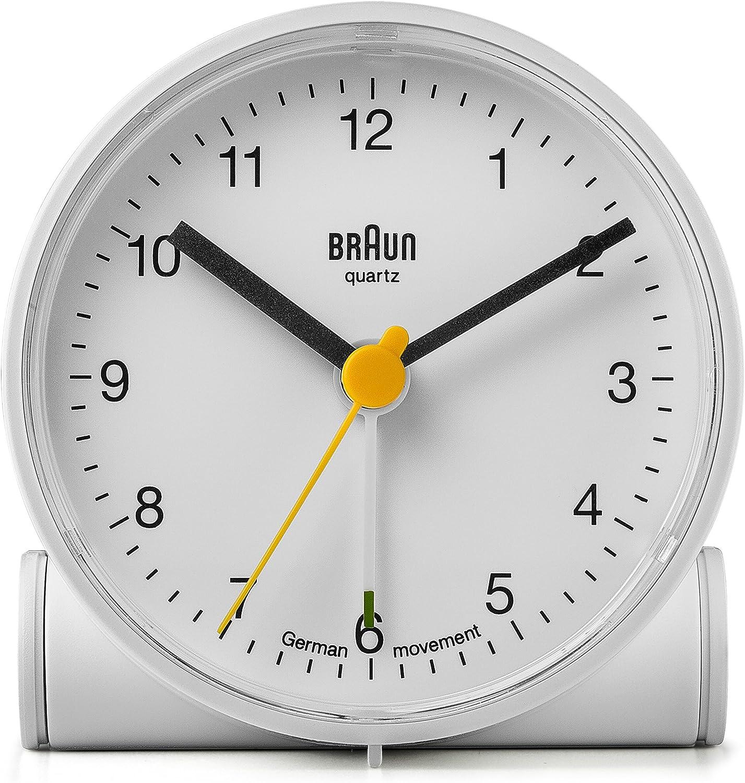 Braun BNC001WHWH Classic Analog Quartz Alarm Clock
