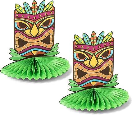 LUAU Tiki HAWAIIAN Party Decoration Honeycomb LUAU PIG Tissue CENTERPIECE 12inch