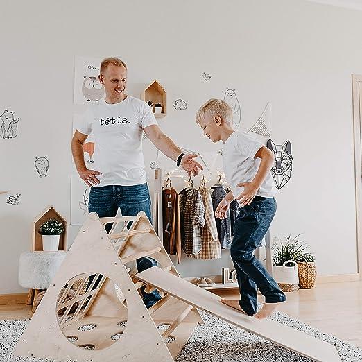 scaletta scaletta per bambini triangolo arrampicata triangolo per bambini con rampa Pikler dreieck Sweet Home da legno Trasformabile Pikler triangolo con rampa