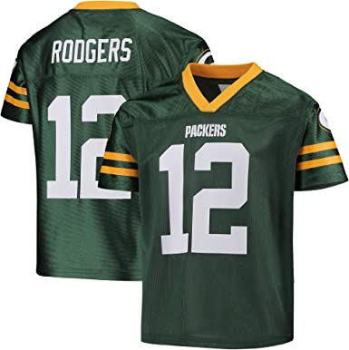Aaron Rodgers Green Bay Packers #12 Green Youth Home Player Jersey