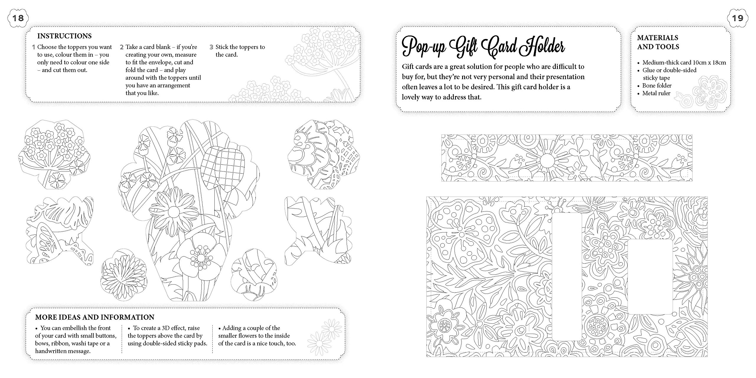 The Flowers Colouring Craft Book Amazoncouk Lisa Hughes 9781780978178 Books