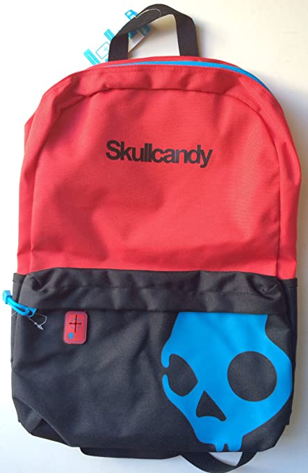 9b7bf22912c5 Amazon.com   Skullcandy Red Blue Black Backpack   Sports   Outdoors