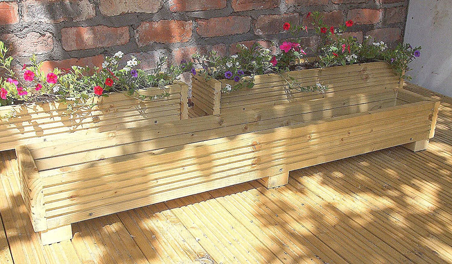 Deck Planter Box 120cm Handmade Wooden Planter Boxes Pressure Treated Wooden Planters A Wooden Garden Planters With A Natural Finish GWHandyman©