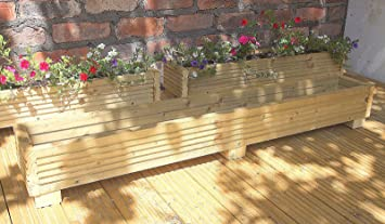 Deck Planter Box 120cm Handmade Wooden Planter Boxes Pressure