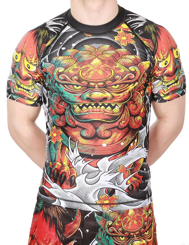 Image of Justyfight Short Sleeve Rash Guard JAPANESE