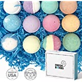 Bath Bombs Gift Set great for Mothers Day-12 Mini bombs Aromatherapeutic, Relaxation, Stress Relief – Natural, Fizzy, Essential Oil Infused, Luxuriously Lush Bombs Recipe Handmade in USA